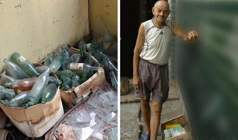 Соседи не могли понять, зачем он на протяжении 20 лет таскал бутылки к себе во двор, но вскоре все стало ясно