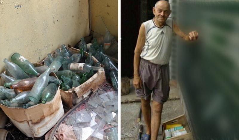 Соседи не могли понять, зачем он на протяжении двадцати лет таскал бутылки к себе во двор, но вскоре все стало ясно